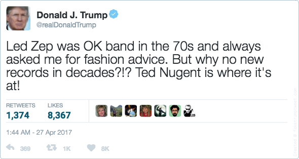 Fake Trump tweet
