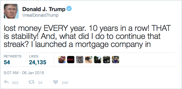 lost money EVERY year. 10 years in a row! THAT is stability! And, what did I do to continue that streak? I launched a mortgage company in